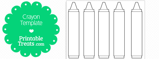 Free printable crayon template printable for Crayon label template
