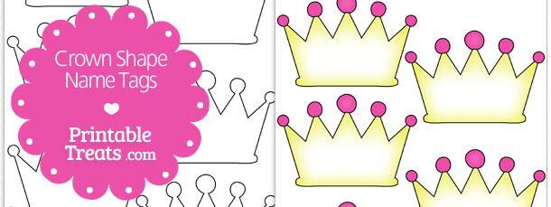 image regarding Free Printable Crown named Absolutely free Printable Crown Track record Tags Printable