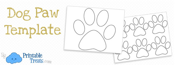 Printable Paw Template Dog Paw Prints Printable Treats Com