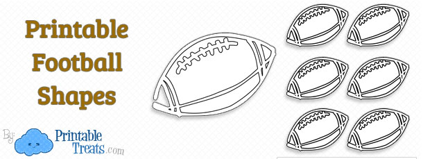 printable football shapes template