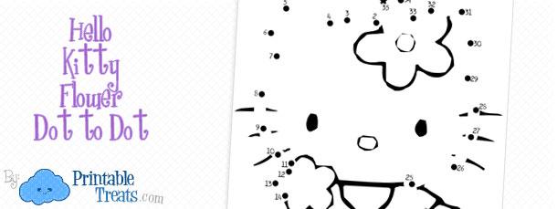 printable-hello-kitty-flower-dot-to-dot