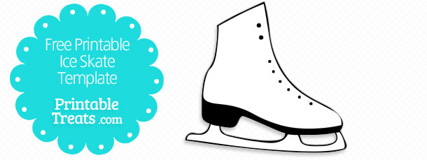 free printable ice skate template printable treats com