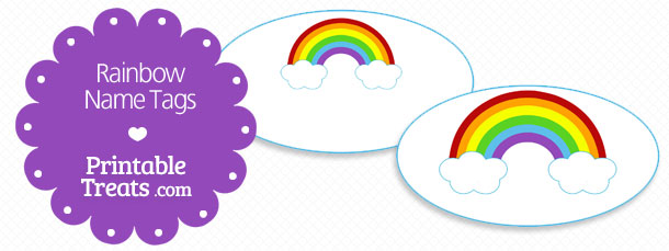 image relating to Printable Rainbow known as Cost-free Printable Rainbow Track record Tags Printable