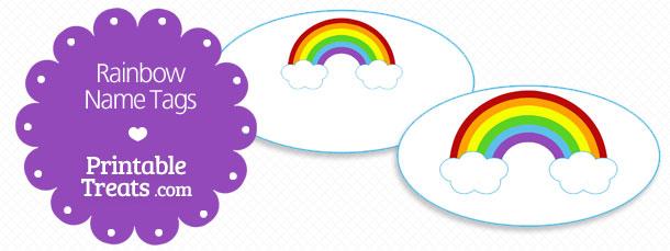 graphic relating to Printable Rainbow known as Cost-free Printable Rainbow Reputation Tags Printable