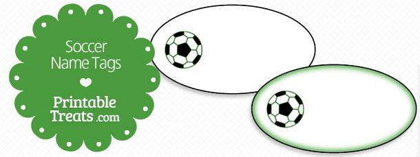 Free printable soccer name tags printable treats free printable soccer name tags negle Images