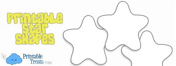 Printable Star Shapes — Printable Treats.com