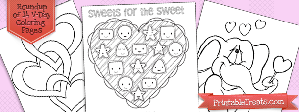 14 valentines day printable coloring pages printable treats com