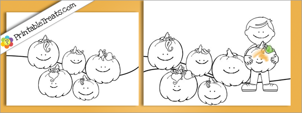 graphic about 5 Little Pumpkins Printable named Pumpkins Coloring Sheets: 5 Very little Pumpkins Printable