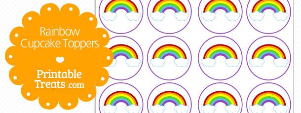 Free Rainbow Cupcake Toppers — Printable Treats.com