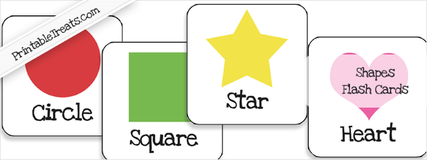 Shapes Flash Cards Printable for Preschoolers — Printable Treats.com