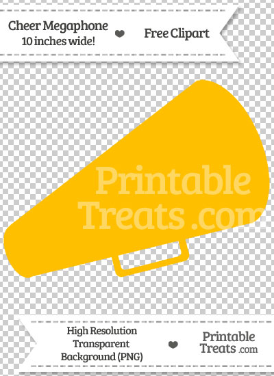 Amber Cheer Megaphone Clipart from PrintableTreats.com