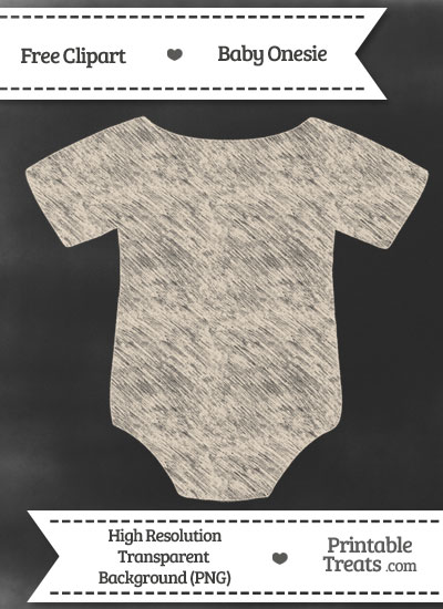 Antique White Baby Onesie Chalk Clipart from PrintableTreats.com