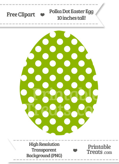 Apple Green Polka Dot Easter Egg Clipart from PrintableTreats.com