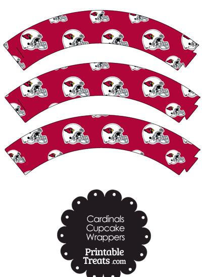 Arizona Cardinals Football Helmet Cupcake Wrappers from PrintableTreats.com