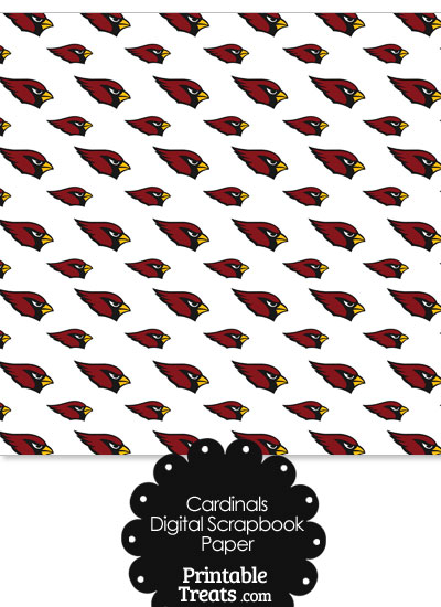 Arizona Cardinals Logo Digital Paper from PrintableTreats.com