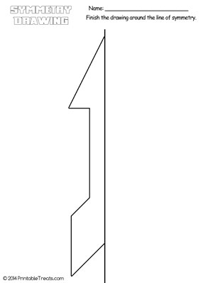 arrow symmetry drawing worksheet