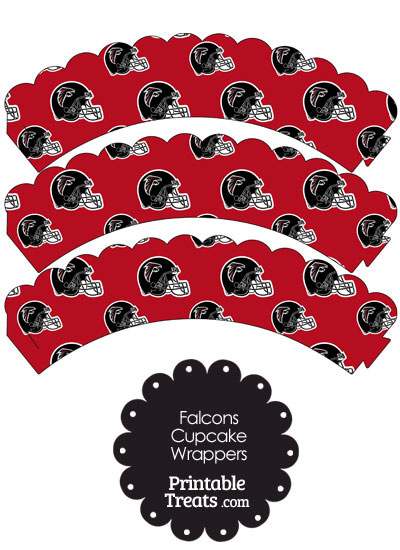 Atlanta Falcons Football Helmet Scalloped Cupcake Wrappers from PrintableTreats.com