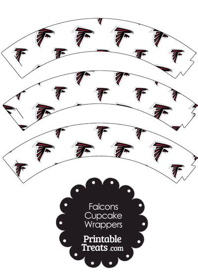 Atlanta Falcons Logo Cupcake Wrappers from PrintableTreats.com