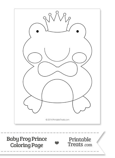 Baby Frog Prince Kids Coloring Page from PrintableTreats.com