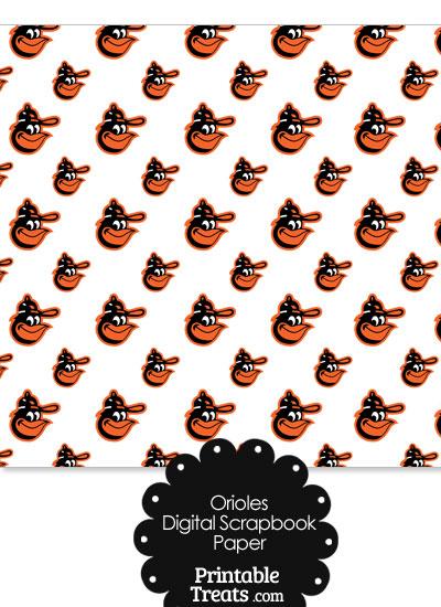 Baltimore Orioles Baseball Digital Paper Printable Treats