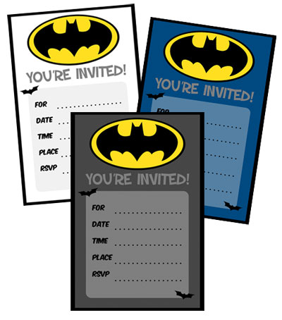 Batman birthday invitations to print printable treats batman birthday invitations stopboris Image collections
