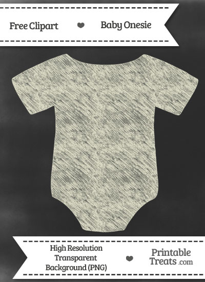 Beige Baby Onesie Chalk Clipart from PrintableTreats.com