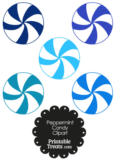 blue and white peppermint candy clipart printable treats com rh printabletreats com peppermint candy clip art free printable