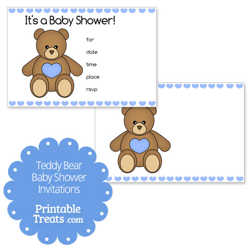 Blue printable teddy bear baby shower invitations printable treats blue printable teddy bear baby shower invitations filmwisefo