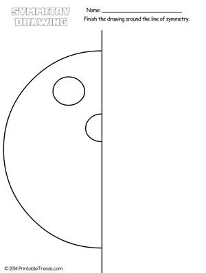 bowling ball symmetry drawing worksheet