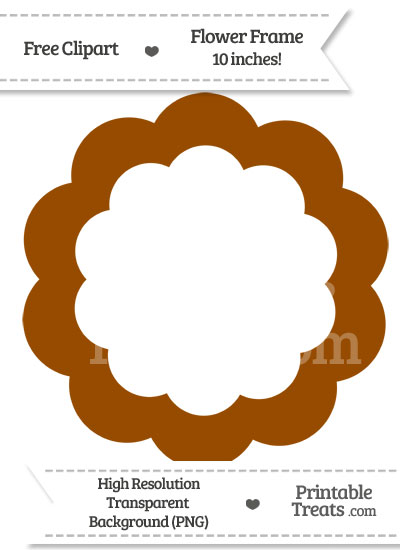 Brown Flower Frame Clipart from PrintableTreats.com