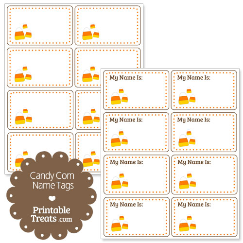 candy corn name tags