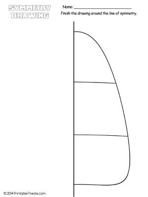 Candy Corn Symmetry Drawing Worksheet — Printable Treats.com