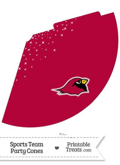 Cardinals Party Cone Printable from PrintableTreats.com