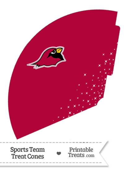 Cardinals Treat Cone Printable from PrintableTreats.com
