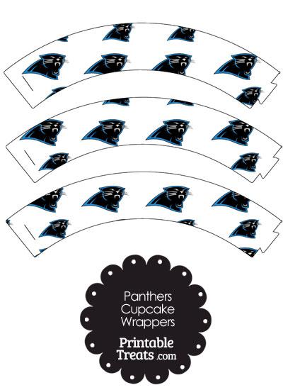 photo relating to Carolina Panthers Printable Logo referred to as Carolina Panthers Symbol Cupcake Wrappers Printable