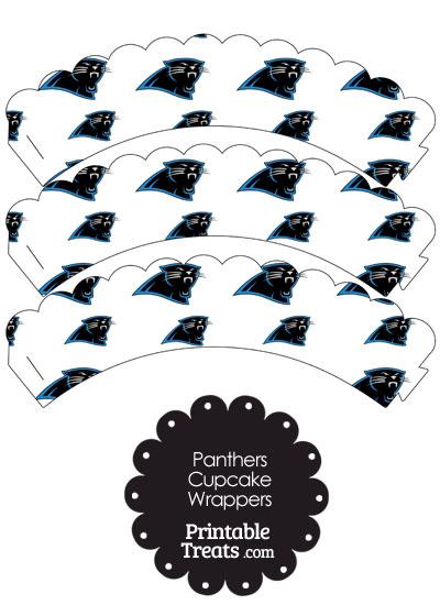 Carolina Panthers Logo Scalloped Cupcake Wrappers from PrintableTreats.com