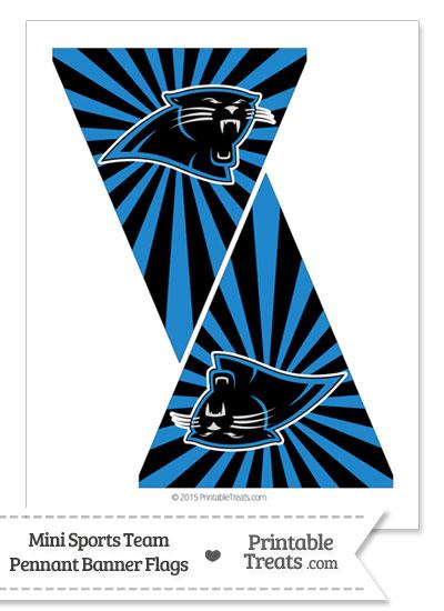 graphic relating to Carolina Panthers Printable Logo titled Carolina Panthers Mini Pennant Banner Flags Printable
