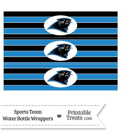 photo about Carolina Panthers Printable Logo known as Carolina Panthers Drinking water Bottle Wrappers Printable