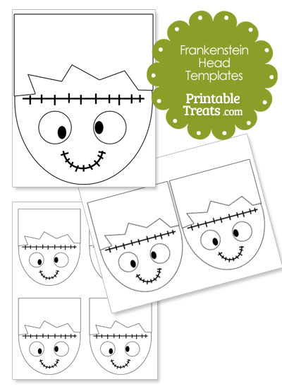 cartoon frankenstein head template from printabletreatscom - Cartoon Template Printable