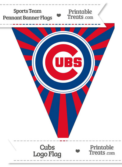 image regarding Printable Cubs Logo identify Chicago Cubs Pennant Banner Flag Printable