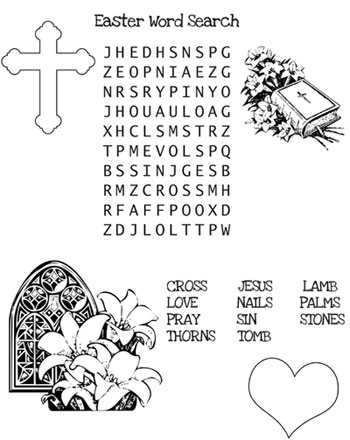 picture regarding Free Printable Easter Word Search referred to as Christian Easter Term Seem Printable