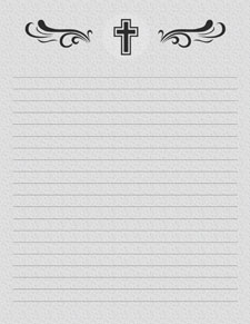 graphic about Free Printable Stationery Black and White known as Christian Stationery Printable