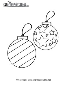 25 Christmas Ornament Coloring Sheets to Print — Printable ...