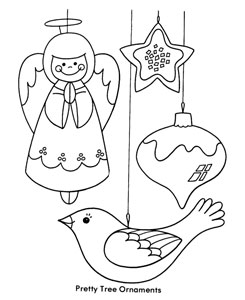 christmas ornament coloring sheet - Christmas Ornaments Coloring Pages