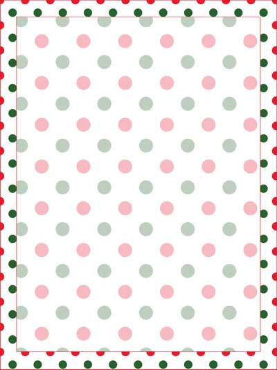 Christmas Polka Dot Stationery — Printable Treats.com