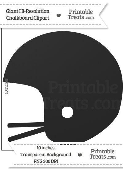 Clean Chalkboard Giant Football Helmet Clipart from PrintableTreats.com