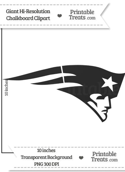 Clean Chalkboard Giant Patriots Logo Clipart from PrintableTreats.com