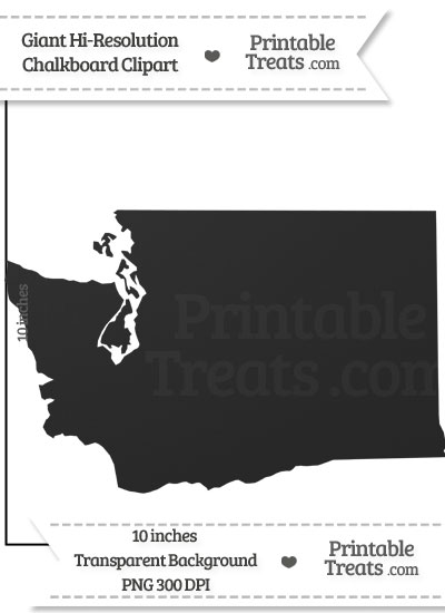Clean Chalkboard Giant Washington State Clipart from PrintableTreats.com