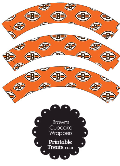 Cleveland Browns Logo Cupcake Wrappers from PrintableTreats.com