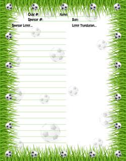soccer borders for word